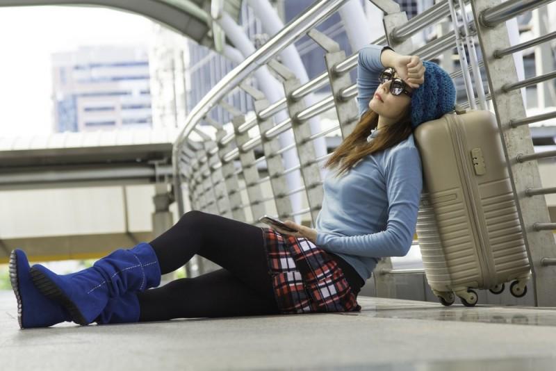 Ventetiden føles uendelig i en lufthavn